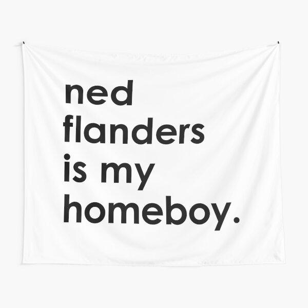 Ned Flanders es mi amigo. Tela decorativa