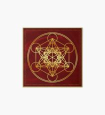 Metatrons Cube, Flower of life, Sacred Geometry Art Board