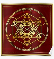 Metatrons Cube, Flower of life, Sacred Geometry Poster