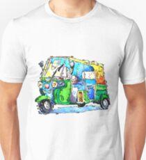 Tuk Tuk Auto Rickshaw Yellow Green Unisex T-Shirt
