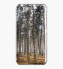 Pine Trees in Morning Fog. iPhone Case/Skin