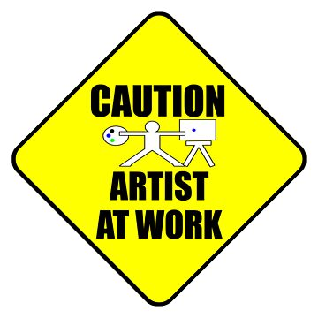 artist at work sign by dedmanshootn