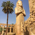 Pharaoh Statue, Karnak Temple, Luxor by Ludwig Wagner