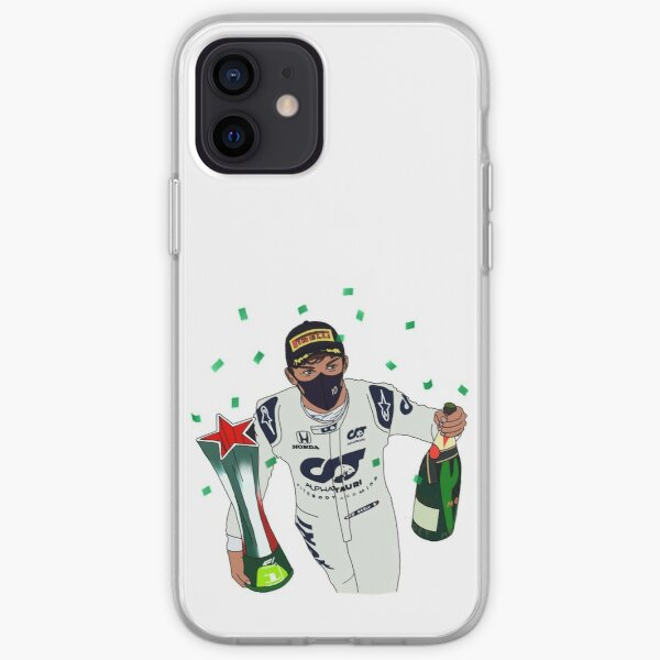 Pierre Gasly- Trophy and Champagne iPhone Soft Case