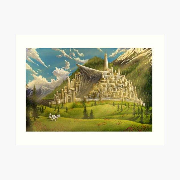 Dawn Over Minas Tirith Art Print