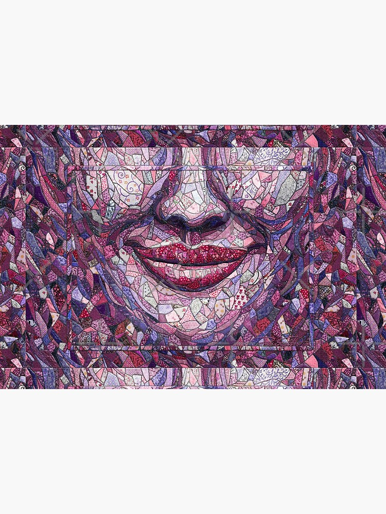 """""""Crazy"""" (quilt, hand-painted fabric) """"Smile"""" - Fine Art series by CaraSonrisa"""