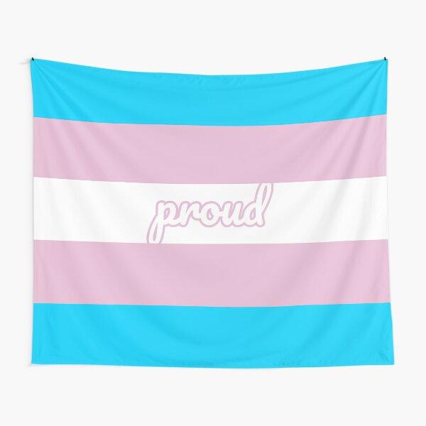 Proud - Transgender Pride Flag Tapestry
