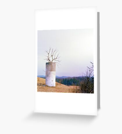 Tree in a Silo in January Greeting Card
