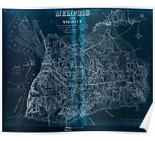 Civil War Maps 1119 Memphis and vicinity Inverted Poster