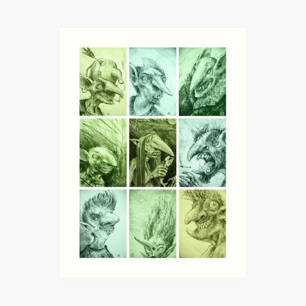 Green Gobbos! Art Print