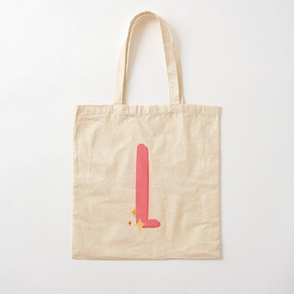 Cute Sparkly Alphabet Monogram Letter L Cotton Tote Bag