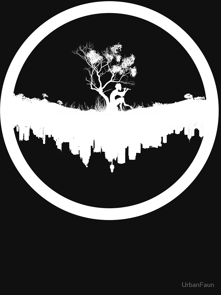 Urban Faun - White on Black | Unisex T-Shirt