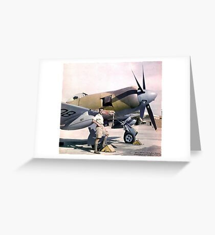 Bristol Centaurus Powered Hawker Tempest FB II in Pakistan 1948 Greeting Card