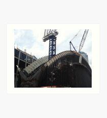 The New World Trade Center Transit Hub Starts to Rise, Santiago Calatrava, Designer, Lower Manhattan, New York City  Art Print