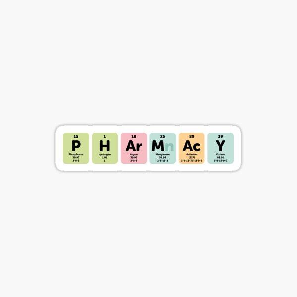 Pharmacy periodic table Sticker