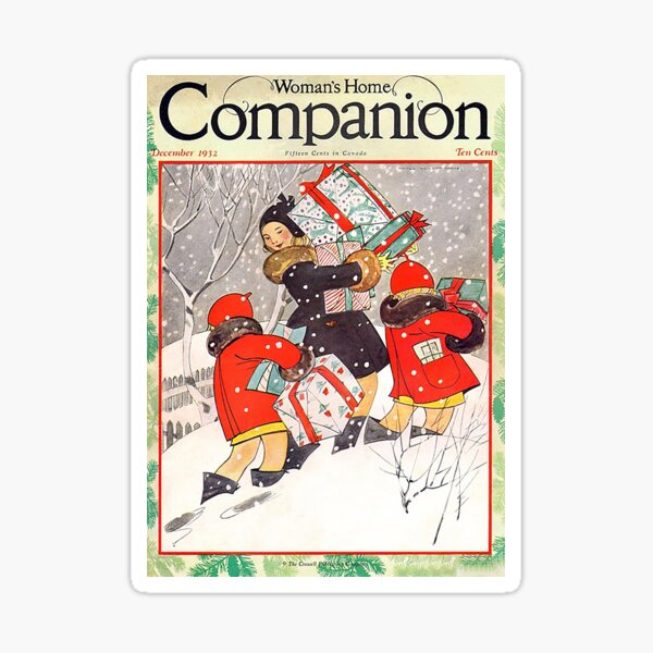 Vintage Christmas Magazine Cover from Women's Home Companion (1932) Sticker