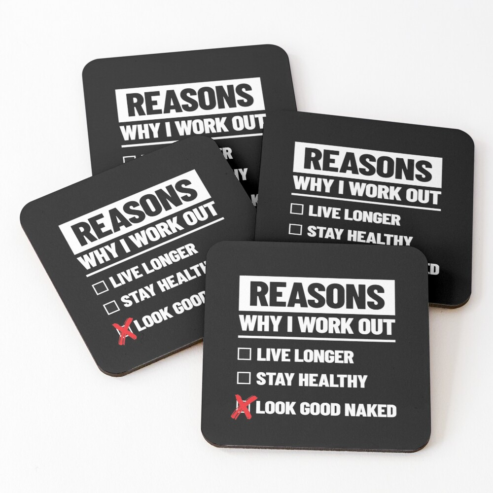 Personal Trainer Fitness Gift - Health Coach - Funny Workout Coasters (Set of 4)