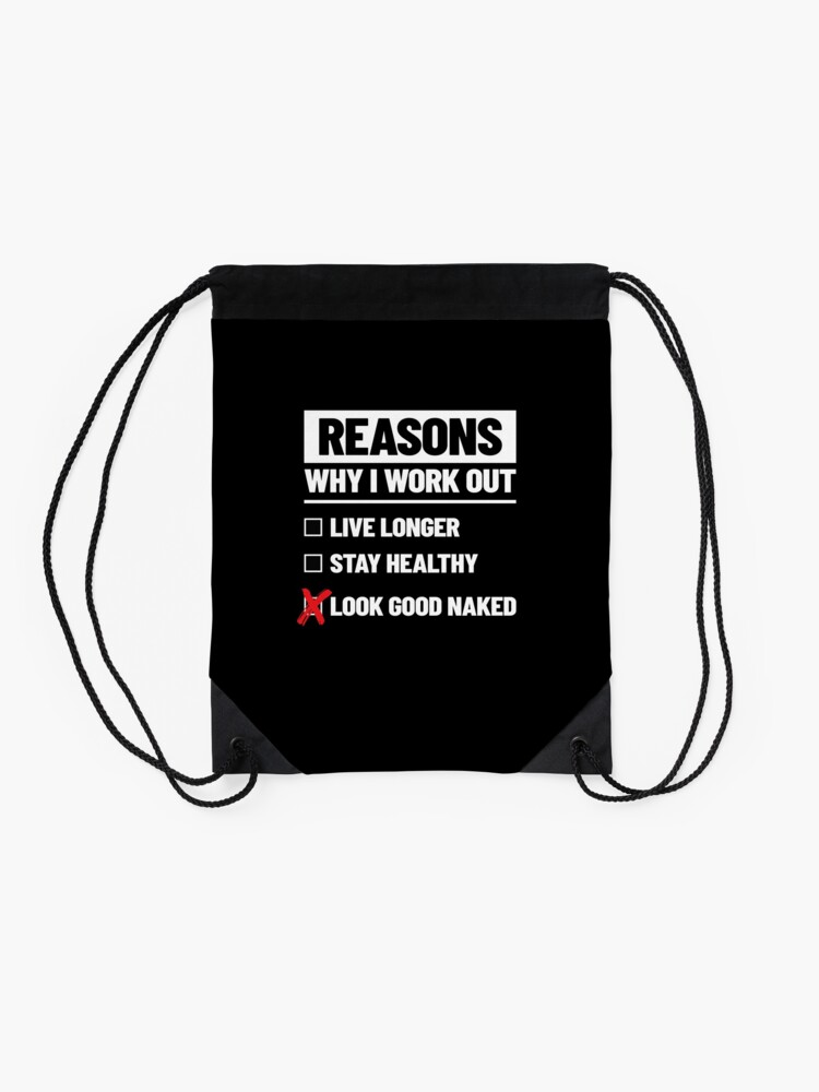 Alternate view of Personal Trainer Fitness Gift - Health Coach - Funny Workout Drawstring Bag