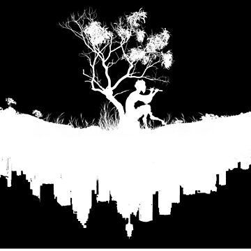 Urban Faun - White on Black by UrbanFaun