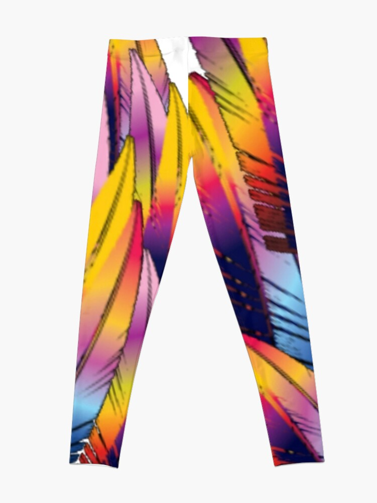 Alternate view of Colorful Feather Leggings