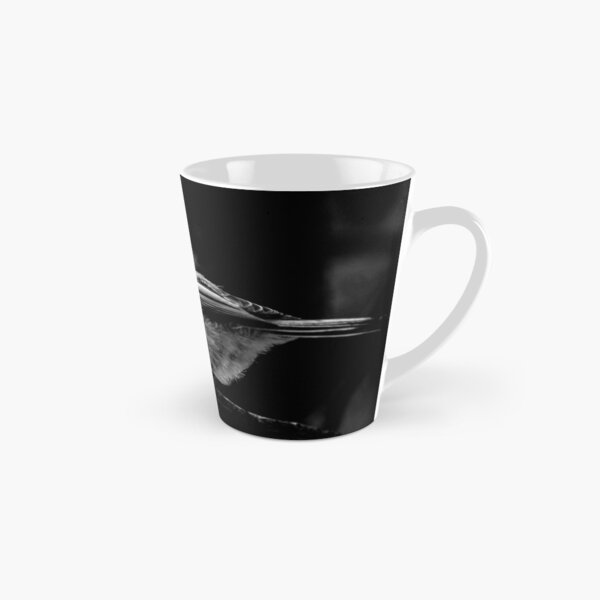 Chickadee in Black & White Tall Mug