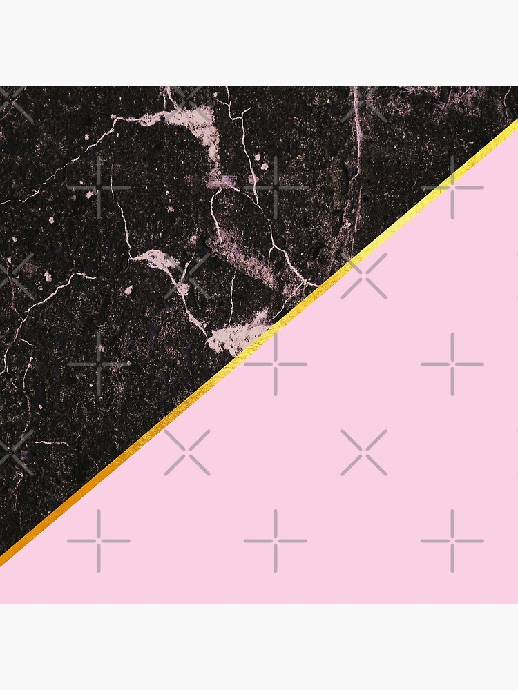Pink and gold abstract, marble by ColorsHappiness