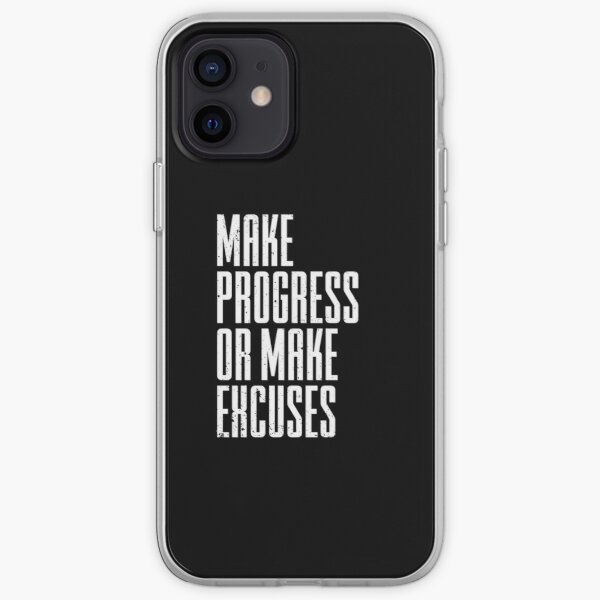 Gym Motivation Workout Quote for Fitness Coach, Trainer iPhone Soft Case
