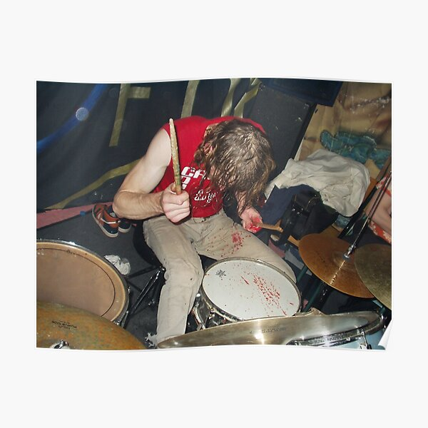 Zach Hill Drumming Poster Poster