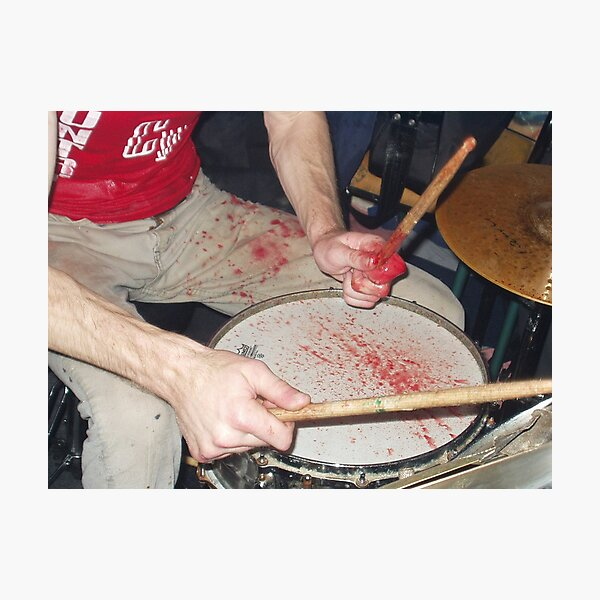Zach Hill Drumming Poster Photographic Print