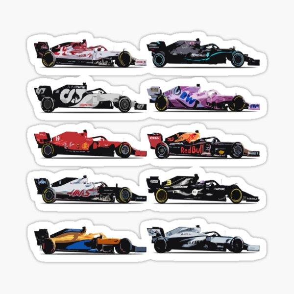 F1 Toutes les voitures 2021 Sticker