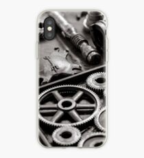 Cogs and Gears Black and White Photograph iPhone Case
