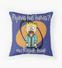 Who's Flying This Thing?! Throw Pillow