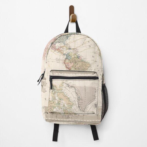 Vintage Colorful Historical Rainbow World Map Boho Backpack