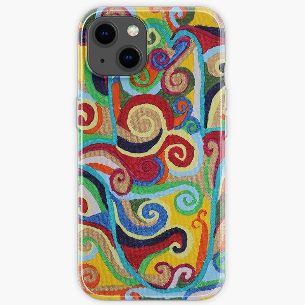 Hamsa Yellow iPhone Soft Case