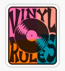 Vinyl Records Rule Pop Art Sticker