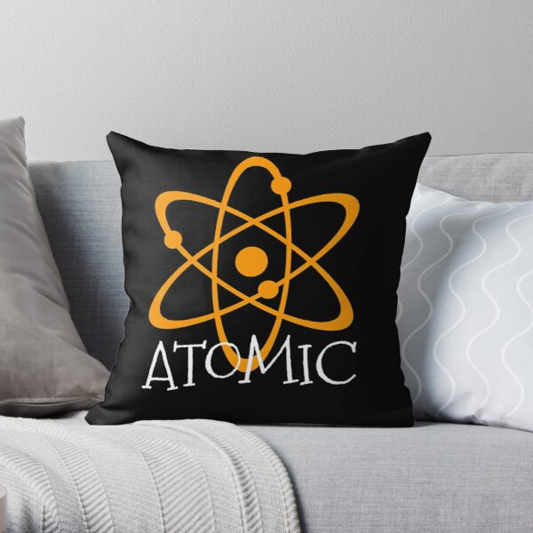 Atomic Throw Pillow