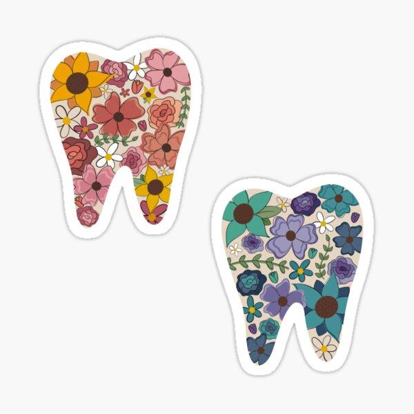Floral Tooth Set Sticker