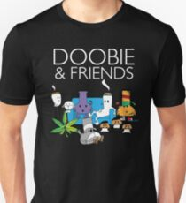 Doobie and Friends - White text T-Shirt