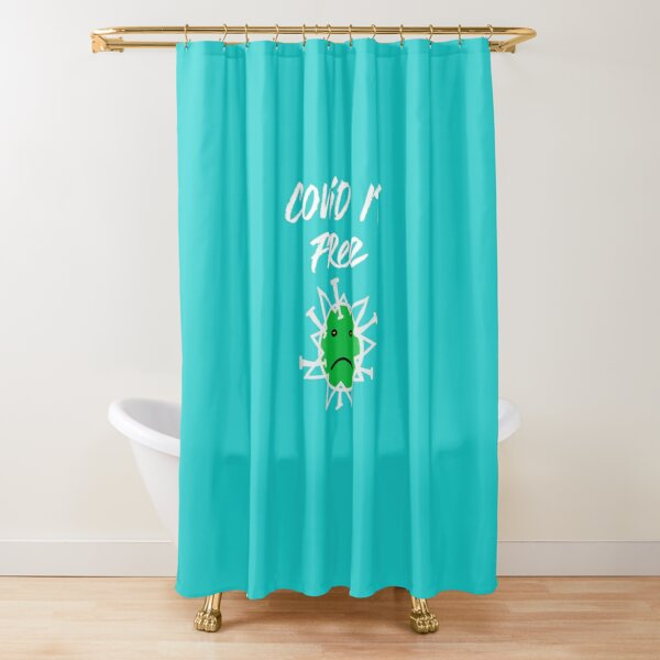 Covid 19 Free Shower Curtain