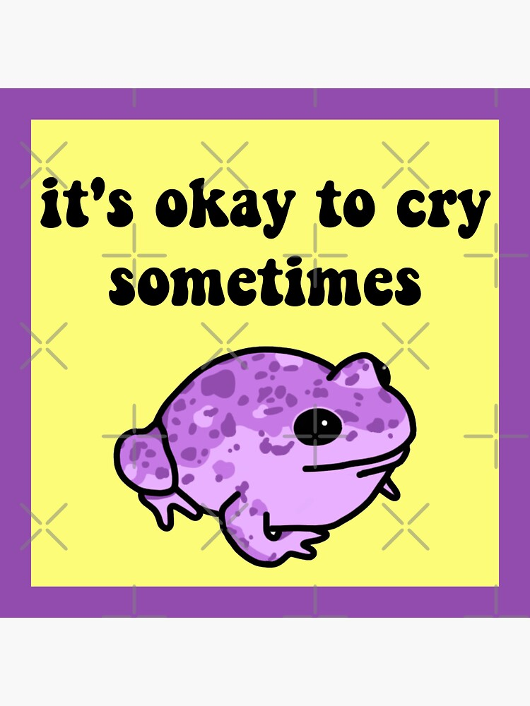 It's Okay To Cry Sometimes Frog by melouker