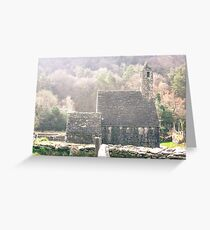 Glendalough Stone Building Greeting Card
