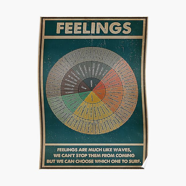 feelings are much like waves we can;t stop them from coming but we can choose which one to surf Poster