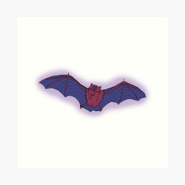 Purple Bat Art Print