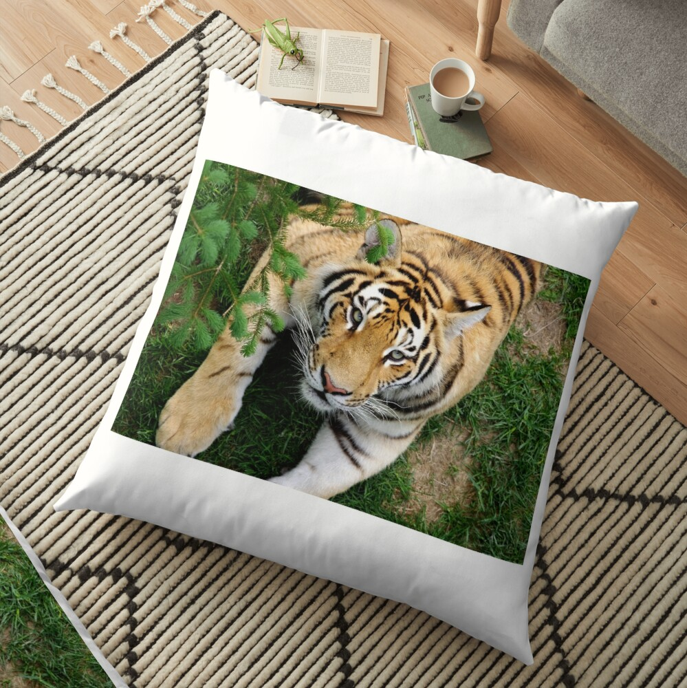 Chilling tiger Floor Pillow