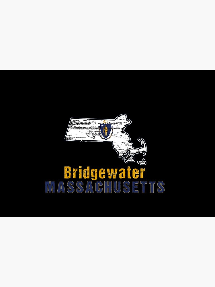 Bridgewater Massachusetts State Distressed Flag Outline by ha10378