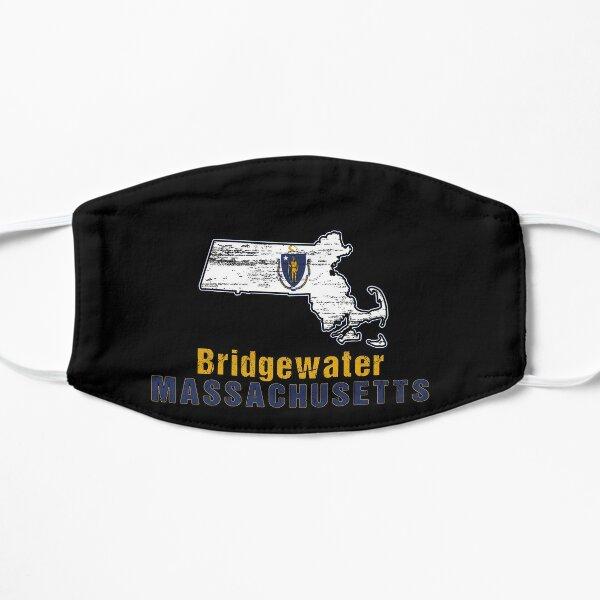 Bridgewater Massachusetts State Distressed Flag Outline Mask