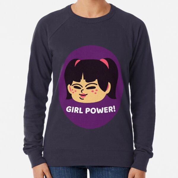 vintage SMILEY face GIRL power Riot GRRRL raglan sweatshirt