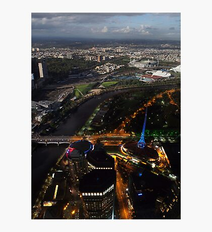 Melbourne - Day and Night Photographic Print
