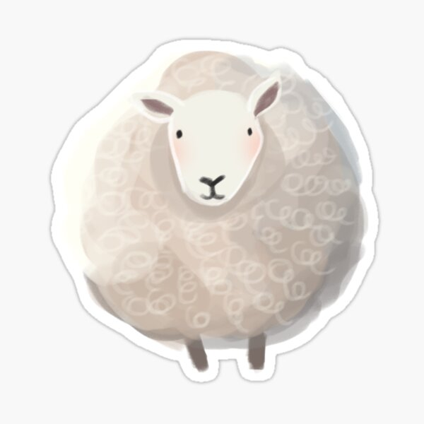 Ramsey the Sheep Sticker