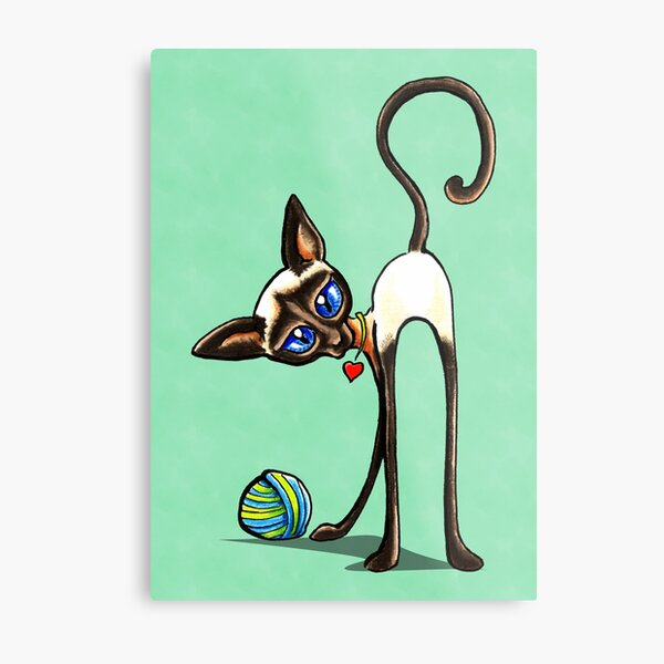 Simaese Cat | Yarn Thief Metal Print